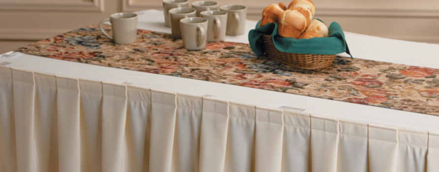 Markou0027s Specialty Products Include An Outstanding Selection Of Tablecloths,  Table Runners, Overlays, Skirting, Conference Cloth, Skirt Hangers, Clips,  ...