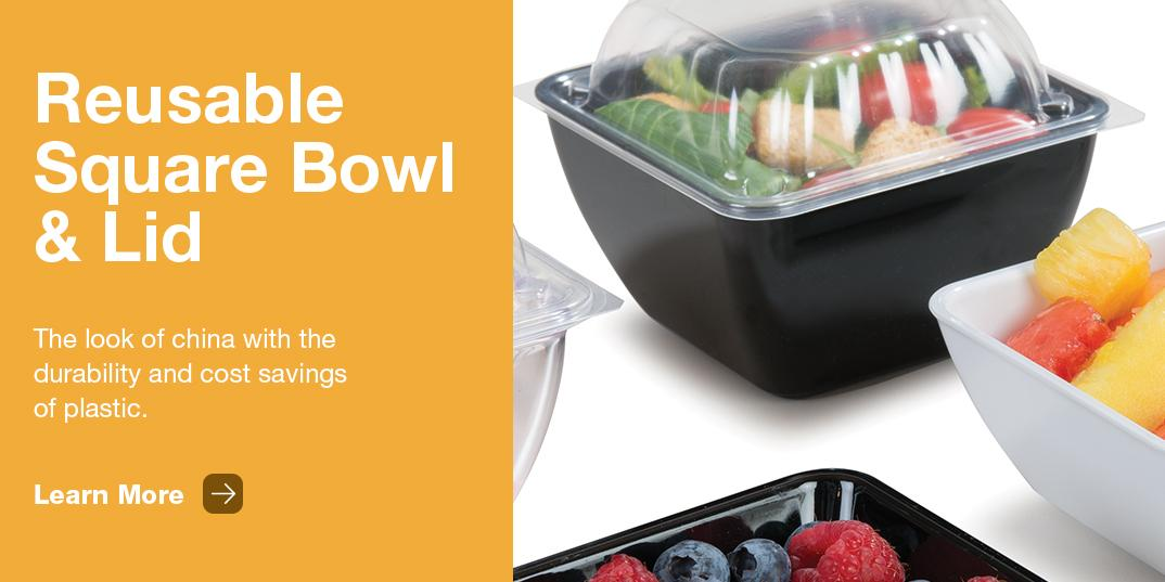 Dinex Square Bowls and Lids
