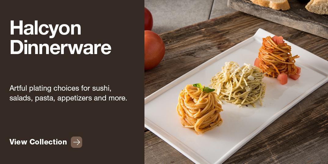 dinnerware with pasta