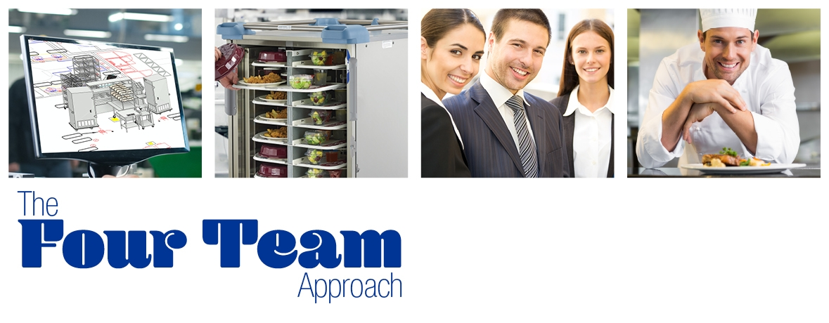 Our unique, four-team approach to healthcare food service support allows us to make your kitchen run better.