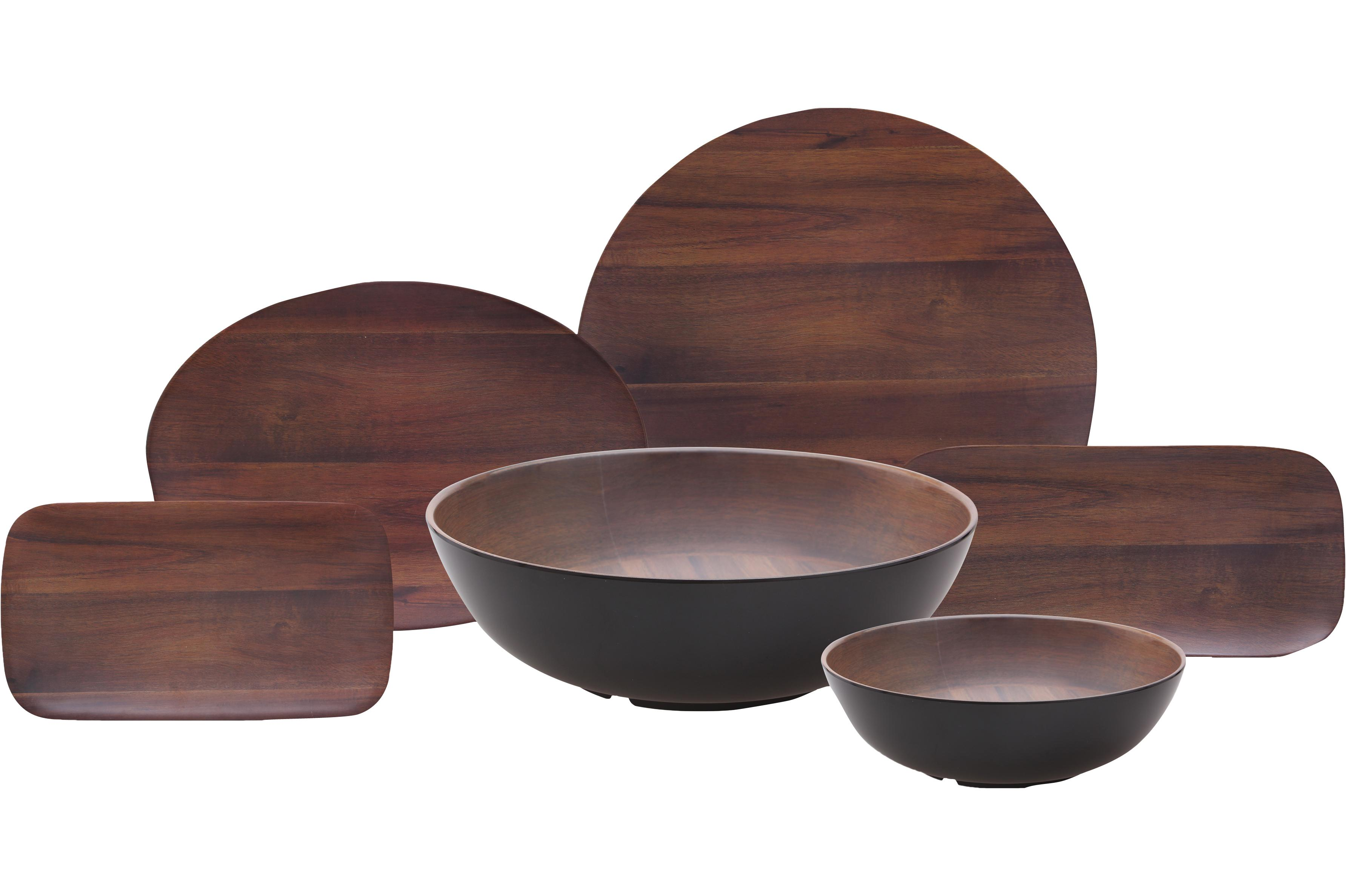 family photo of Acacia  sc 1 st  Carlisle FoodService Products : wood dinnerware - Pezcame.Com